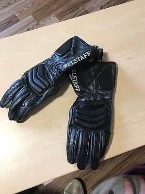 Leather Belstaff Mens Motorcycle Gloves Size Small Kevlar Energized