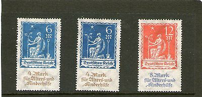 germany 1922 set of 2 with both types of 6+4m mh