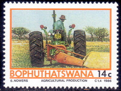 Bophuthatswana stamp Agricultural production - Trctor 1986 mnh.