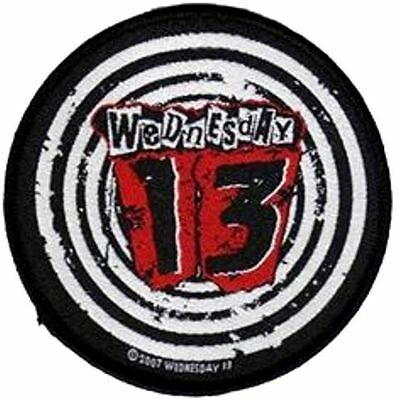 WEDNESDAY 13   round  sew on woven patch