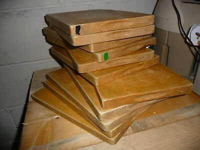 Vintage Wooden School Kitchenalia Light Colour Chopping /cheese Board