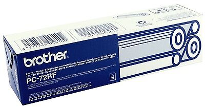 Brother PC-72RF 2 rouleaux de recharge pour fax Brother T72, T74, T76, T78 Neuf