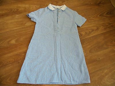 Girls age 5-6 years blue checked school dress M&S