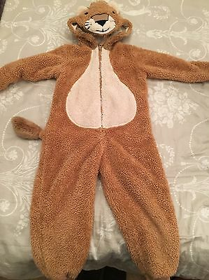 Marks And Spencer Boy Girl Lion Bear Onesie Suit Age 4 - 5