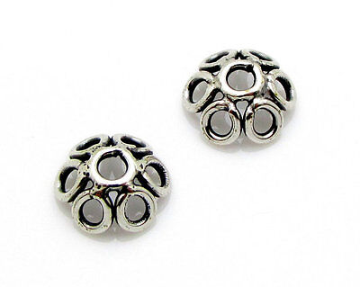 BALI .925 STERLING SILVER 5mm WIRE FILIGREE BEAD CAPS #2062 - (10)