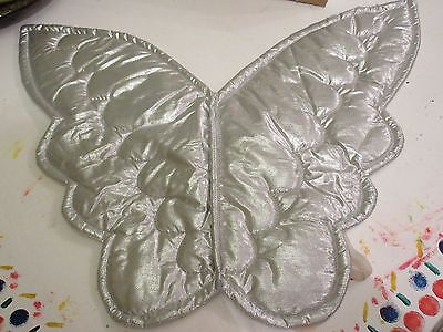Silver fairy angel wings fancy dress mythical creature