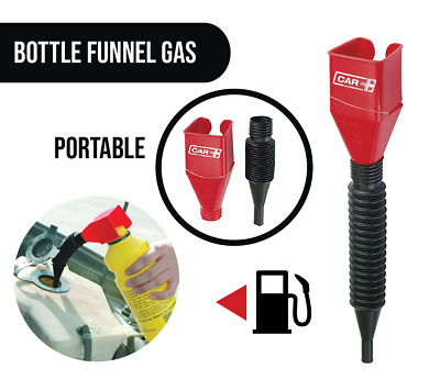 Two Car SUV Motorcycle Small Portable Bottle Funnel Gas Oil Expandable Hose