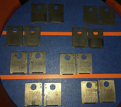 Eubanks 28 AWG .030 OD 00156 Wire Stripping Blade Set 2600 blades Cut gauge lot