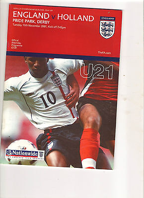 2001  England v Holland  (U 21 Euro Play Off at Derby)