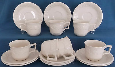 Bhs British Home Stores Lincoln Creamware Fruits Cups & Saucers 17 Piece