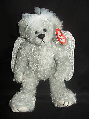 Ty Beanies Bear - Attic Treasures Sterling With Tag