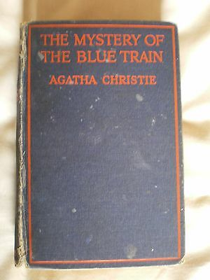 Agatha Christie - The Mystery of the Blue Train 1928 1st/2nd First Edition Book