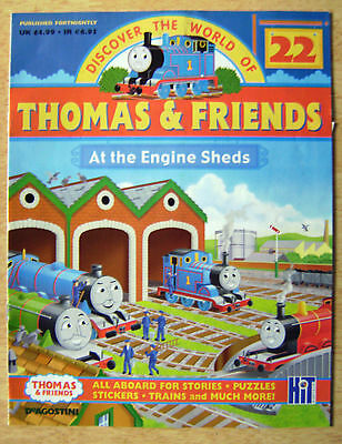 DISCOVER THE WORLD OF THOMAS AND FRIENDS No.22 AT THE ENGINE SHEDS,STORIES ECT