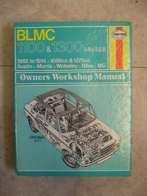 Vintage Haynes Workshop Manual for BLMC,Auatin,Morris,Wolsley,Riley,MG 1100,1300
