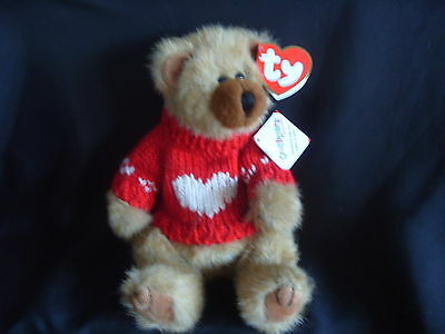 Ty Beanies - Attic Treasures Cody The Brown Bear With Jumper And Tags