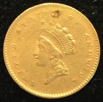 1854 $1 Gold Indian Princess Head Type 2