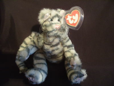 Ty Beanies - Attic Treasures Max The Grey Striped Cat With Tags