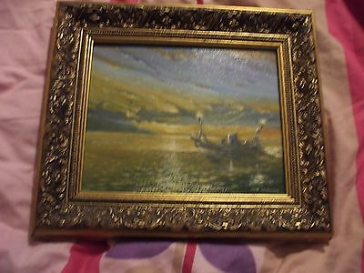 Nautical Oil Painting On Canvas Signed John Griffiths