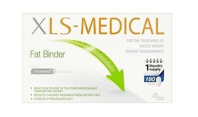 Xls-Medical Fat Binder - 180 Tablets - Weight Loss Brand New