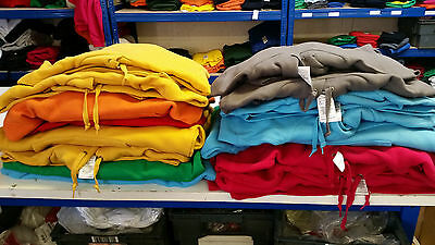 Job Lot 16 B&c, Russell, Awdis Hooded Sweatshirts - Various Colours And Sizes