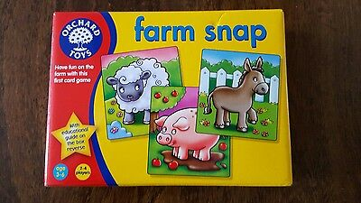 Orchard Toys FARM SNAP Baby Toddler Child Card Game Animals Education