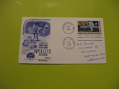 Rare -  Moon Landing 1969 First Day Of Issue Cover