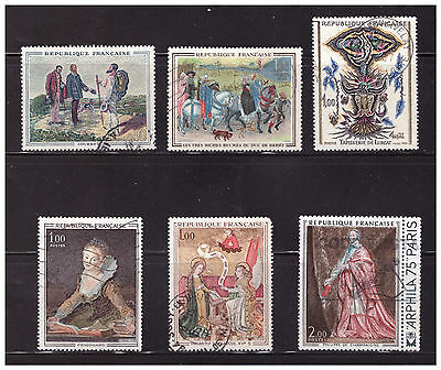 France, Used, Group Of Stamps, Cv-$5.30Us.