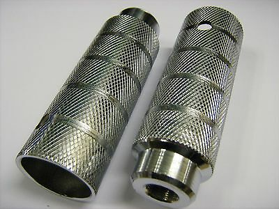 PAIR OF BMX STUNT PEGS STEEL CHROME FOR 14mm AXLES