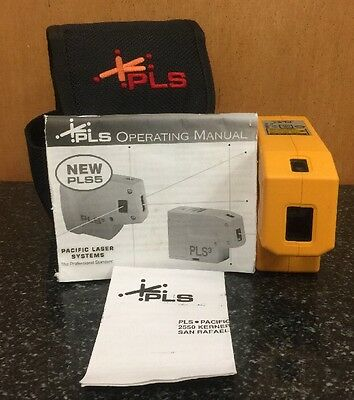 Pacific Laser Systems PLS3 Self-Leveling 3 Point Laser Plumb Level PLS 3 Used