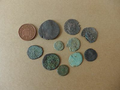 10 Uncleaned British Found Roman Coins Dating 3rd-4th Century AD (29)