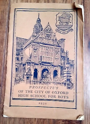 Prospectus of the City of Oxford High School for Boys 1939