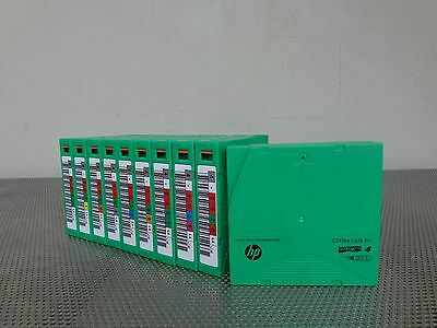Lot of 10 HP Tape Data Cartridge 1600Gb LTO-4 Ultrium 10-pack C7974A BARCODED