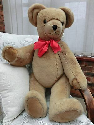 """VINTAGE 1987 Extra Large Traditional Mohair Canterbury Teddy Bear 35"""" VGC"""