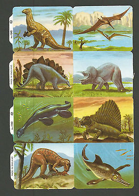 Mlp 1242 - Prehistoric Animals Scraps - Mamelok Press Discontinued Double Sheet