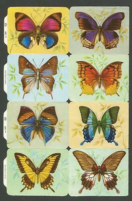 Mlp 1259 - Butterflies Scraps - Oblaten - Mamelok Press Discontinued Sheet
