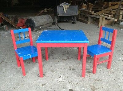 Childrens table and two chairs
