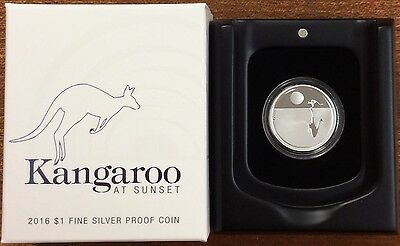 2016 RAM $1 Fine Silver Proof Coin  - Kangaroo at Sunset
