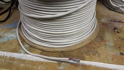 6 pair 12 cores white telephone cable approx 130 meters on roll