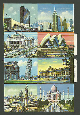 Mlp 1622 - Famous Buildings Scraps - Mamelok Press Discontinued Double Sheet