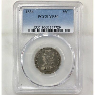 1836 Capped Bust Quarter PCGS VF30 ***Rev Tye's Coin Stache*** #7789198