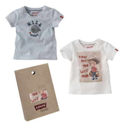 Levi's Baby Boys 2 Shortless T-Shirt Set with Gift Bag Size; 6 & 12mths BNWT
