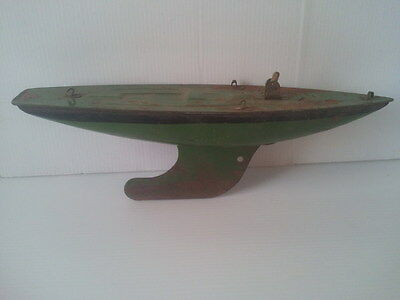 Vintage Model Toy TIN BOAT - L BROS LTD LONDON ENGLAND (26cm)