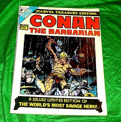 Marvel Comics Conan The Barbarian Treasury Edition  Deluxe Comic Marvel Conan