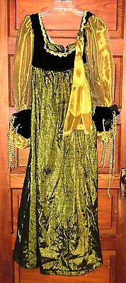 Medieval Long Dress with Matching Hat Size M Handmade