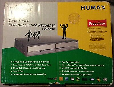 Humax Duovisio PVR-9200T (160GB) DVR Freeview Recorder Twin Tuner