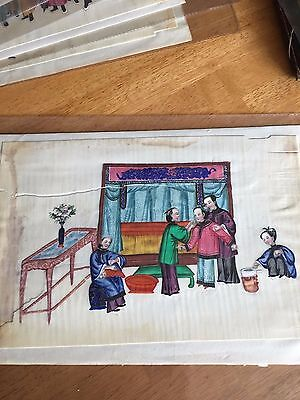 Antique Chinese Pith Paper Painting 19Th Century #13