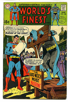 WORLD'S FINEST COMICS No 186 NEAL ADAMS COVER Silver Age Good/v good Condition