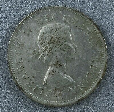 1954 Canadian 25 cent quarter coin Silver