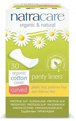 Natracare Organic and Natural Curved Panty Liners Cotton Covers - Pack Of 30