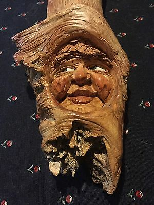 Wow! Unique Hand Painted Wood Spirit Carving